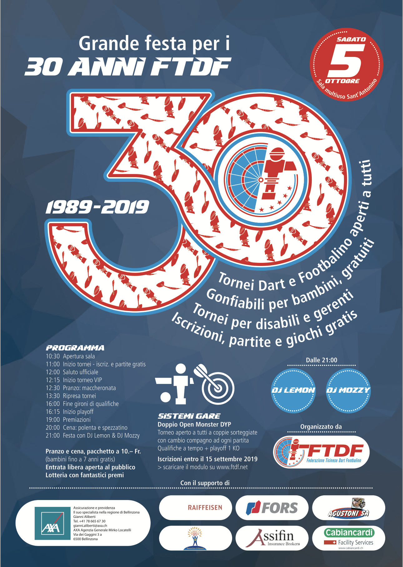 Calendario 2020 Ticino.Ftdf Federazione Ticinese Dart E Footbalino Titolo